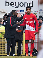 Khephren Thuram-Ulien of AS Monaco FC Youth comes on as substitute during the UEFA Youth League round of 16 match between Tottenham Hotspur U19 and Monaco at Lamex Stadium, Stevenage, England on 21 February 2018. Photo by Andy Rowland.