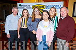 The Pedal Hard cycle gang enjoying their celebrations in Stokers Lodge on Saturday night. <br /> L to r; Liam Marley, Clodagh Irwin, Amy Bradley, Claire and Ella Irwin and Joe Hennerbery.
