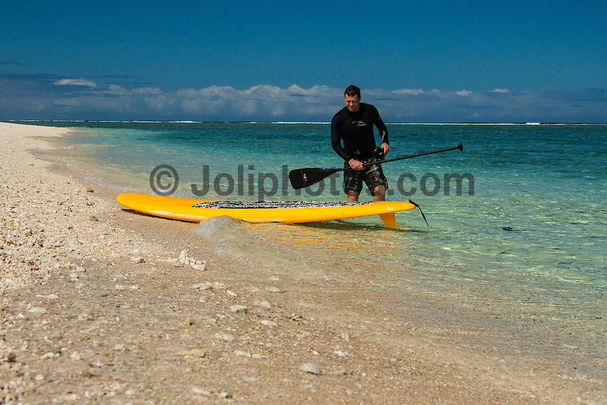 Namotu Island Resort, Fiji. (Monday, August 27, 2012) -   Light winds this morning and a very small swell greeted the early boat to Cloudbreak. Crew went spearfishing and wake boarding plus a surfing session at Desperations to fill in the day.  The dog tooth tuna caught yesterday made it to the table tonight in the form of two huge platters of sashimi and sushi. Photo: joliphotos.com