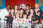 Martial arts fighters who from the Kerry Shotokan Karate school who won medals at the World Karate championships held in Poland in September front row l-r: Claire Doreou, Cadlah Piggot, Simon Moynihan, Alana Piggot. Back row: Moses Gemma, Zoe Doreou, David Moriarty, Charles Neri Sensei and Mark Doreou