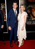 Miles Teller &amp; Haley Bennett at the premiere for &quot;Thank You For Your Service&quot; at the Regal LA Live Theatre. Los Angeles, USA 23 October  2017<br /> Picture: Paul Smith/Featureflash/SilverHub 0208 004 5359 sales@silverhubmedia.com