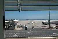 Fuerteventura airport runway, Canary Islands, Spain,May 2007