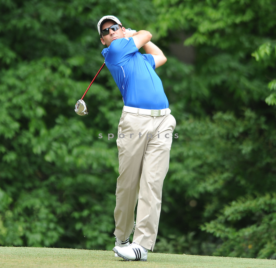 SERGIO GARCIA, during the second round of the Quail Hollow Championship, on May 1, 2009 in Charlotte, NC.