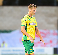 Norwich City's Sean Raggett re-actas after scoring an own goal<br /> <br /> Photographer Andrew Vaughan/CameraSport<br /> <br /> Football Pre-Season Friendly - Lincoln City v Norwich City - Tuesday 10th July 2018 - Sincil Bank - Lincoln<br /> <br /> World Copyright &copy; 2018 CameraSport. All rights reserved. 43 Linden Ave. Countesthorpe. Leicester. England. LE8 5PG - Tel: +44 (0) 116 277 4147 - admin@camerasport.com - www.camerasport.com