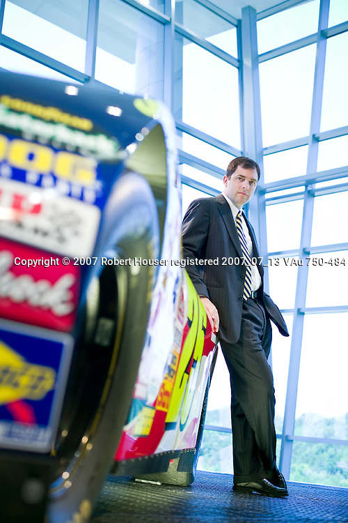 Scott Lampe - CFO - Hendrick Motor Sports: Executive portrait photographs by San Francisco - corporate and annual report - photographer Robert Houser.