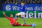 11.12.2018, VELTINS Arena, Gelsenkirchen, Deutschland, GER, UEFA Champions League, Gruppenphase, Gruppe D, FC Schalke 04 vs. FC Lokomotiv Moskva / Moskau<br /> <br /> DFL REGULATIONS PROHIBIT ANY USE OF PHOTOGRAPHS AS IMAGE SEQUENCES AND/OR QUASI-VIDEO.<br /> <br /> im Bild Zweikampf zwischen Yevhen Konoplyanka (#11 Schalke) und Solomon Kverkvelia (#33 Moskau)<br /> <br /> Foto © nordphoto / Kurth