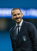 Leonardo Bonucci (AC Milan) of Italy during the International Friendly match between Argentina and Italy at the Etihad Stadium, Manchester, England on 23 March 2018. Photo by Andy Rowland.