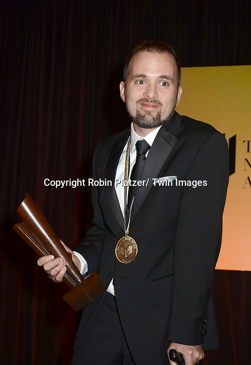 winner William Alexander accepting his award at the 2012 National Book Awards Dinner and Ceremony on November 14, 2012 at Cipriani Wall Street in New York City.