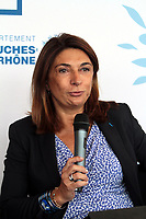 MARTINE VASSAL - CONFERENCE DE PRESSE DE PRESENTATION DU 87EME CONGRES DES DEPARTEMENTS DE FRANCE A MARSEILLE, FRANCE, LE 15/09/2017.