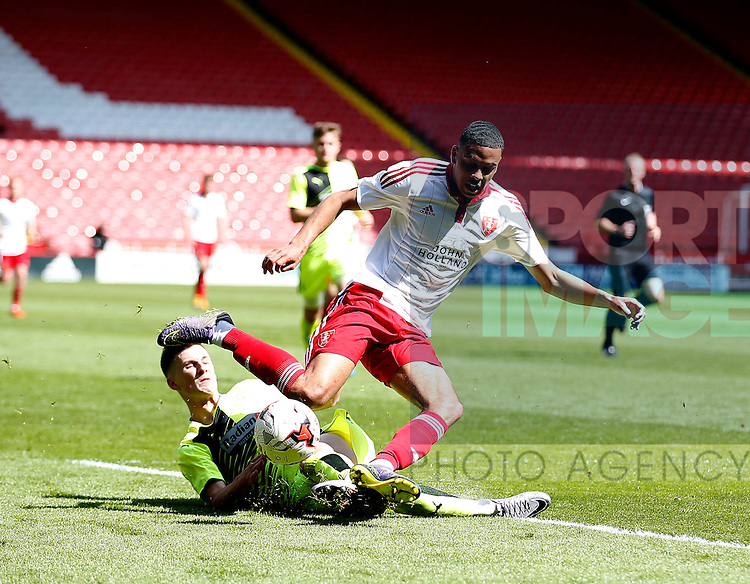 C J  Hamilton of Sheffield Utd during the PDL U21 Final at Bramall Lane Sheffield. Photo credit should read: Simon Bellis/Sportimage