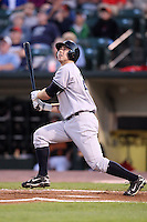 September 4, 2009:  Outfielder Colin Curtis of the Scranton Wilkes-Barre Yankees at bat during a game at Frontier Field in Rochester, NY.  Scranton is the Triple-A International League affiliate of the New York Yankees and clinched the North Division Title with a victory over Rochester.  Photo By Mike Janes/Four Seam Images