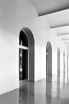 A row of arched doorways