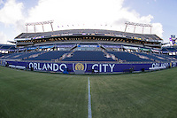 Orlando, FL - Saturday September 10, 2016: Camping World Stadium prior to a regular season National Women's Soccer League (NWSL) match between the Orlando Pride and Sky Blue FC at Camping World Stadium.
