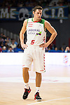 Laboral Kutxa's Fabian Causeur during Liga Endesa ACB at Barclays Center in Madrid, October 11, 2015.<br /> (ALTERPHOTOS/BorjaB.Hojas)