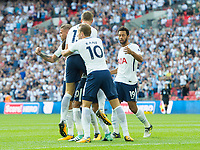 Tottenham's players celebrating  Dele Alli goal during the Premier League match between Tottenham Hotspur and Burnley at White Hart Lane, London, England on 27 August 2017. Photo by Andrew Aleksiejczuk / PRiME Media Images.