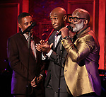 "Charles Randolph-Wrioght, Donald Webber Jr. and BeBe Winans on stage during a Song preview performance of the BeBe Winans Broadway Bound Musical ""Born For This"" at Feinstein's 54 Below on November 5, 2018 in New York City."