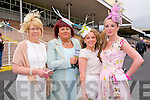 Listowel Races : Attending ladies day at Listowel Races on Sunday last were Bridie O'Sullivan, Joanne Kelly Walsh, Orla Newman & Sharon Heffernan.