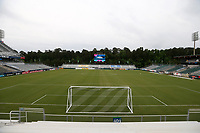 Cary, North Carolina  - Wednesday May 24, 2017: View from the north end of Sahlen's Stadium prior to a regular season National Women's Soccer League (NWSL) match between the North Carolina Courage and the Sky Blue FC at Sahlen's Stadium at WakeMed Soccer Park. The Courage won the game 2-0.