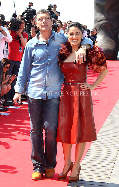"""WWW.ACEPIXS.COM . . . . .  ..... . . . . US SALES ONLY . . . . .....May 11 2011, Cannes....Antonio Banderas and Salma Hayek at a """"Puss In Boots"""" photocall at Hotel Carlton Pier at the Cannes Film Festival on May 11 2011 in Cammes, France....Please byline: FAMOUS-ACE PICTURES... . . . .  ....Ace Pictures, Inc:  ..tel: (212) 243 8787 or (646) 769 0430..e-mail: info@acepixs.com..web: http://www.acepixs.com"""