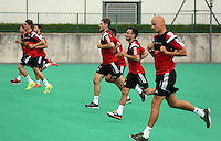 Pictured: Ben Davies, Leon Britton, Jonjo Shelvey. Thursday 03 July 2014<br />