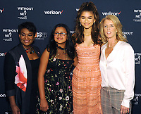 NEW YORK, NY - OCTOBER 03: Rose Stuckey Kirk,Amanda Acevedo,  Zendaya and Rory Kennedyi attends the New York screening of &quot;Withut A Net&quot; at the 55th New York Film Festival on October 3, 2017 at Walter Reade Theater New York City. <br /> CAP/MPI/PAL<br /> &copy;PAL/MPI/Capital Pictures