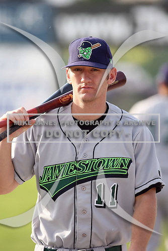 June 23rd 2008:  Lonnie Lechelt of the Jamestown Jammers, Class-affiliate of the Florida Marlins, during a game at Dwyer Stadium in Batavia, NY.  Photo by:  Mike Janes/Four Seam Images