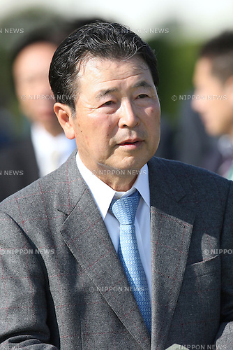 Kojiro Hashiguchi, APRIL 26, 2015 - Horse Racing : Trainer Kojiro Hashiguchi after Red Arion won the Yomiuri Milers Cup at Kyoto Racecourse in Kyoto, Japan. (Photo by Eiichi Yamane/AFLO)