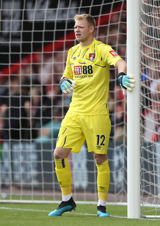 Bournemouth's Aaron Ramsdale<br /> <br /> Photographer Rob Newell/CameraSport<br /> <br /> The Premier League - Bournemouth v West Ham United - Saturday 28th September 2019 - Vitality Stadium - Bournemouth<br /> <br /> World Copyright © 2019 CameraSport. All rights reserved. 43 Linden Ave. Countesthorpe. Leicester. England. LE8 5PG - Tel: +44 (0) 116 277 4147 - admin@camerasport.com - www.camerasport.com
