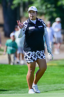 Shanshan Feng (CHN) after chipping up close on 9 during Sunday's final round of the 72nd U.S. Women's Open Championship, at Trump National Golf Club, Bedminster, New Jersey. 7/16/2017.<br /> Picture: Golffile | Ken Murray<br /> <br /> <br /> All photo usage must carry mandatory copyright credit (&copy; Golffile | Ken Murray)