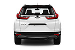 Straight rear view of 2019 Honda CR-V LX 5 Door SUV Rear View  stock images