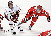 Ashley Motherwell (BC - 18), Brooke Fernandez (St. Lawrence - 10) - The visiting St. Lawrence University Saints defeated the Boston College Eagles 4-0 on Friday, January 15, 2010, at Conte Forum in Chestnut Hill, Massachusetts.
