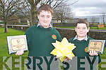 KERRY COUNTY ENTERPRISE: Paul McCarthy and Conor Heaslip students of Tralee Community College who received the Junior runner up and most enterprise student for their Paulorigami at the Kerry Student Enterprise Awards at the IT Tralee on Thursday.