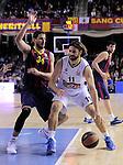 BARCELONA, SPAIN, BALONCESTO   29/11/2013<br /> Partido de Euroleague entre el Barcelona y el Fenerbahce  <br /> <br /> En imagen Bostjan Nachbar y Linas Kleiza  . FOTOS PEP DALMAU