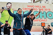 """16th March 2018, Retro Sports Facility, Christchurch, New Zealand;  Valeria Adams (NZL) Tom Walsh (NZ) during """"The Big Shot""""  shot-put competition"""
