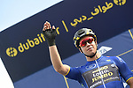 Race leader Dylan Groenewegen (Ned) Team Lotto NL-Jumbo at sign on before the start of Stage 2 The  Ras Al Khaimah Stage of the Dubai Tour 2018 the Dubai Tour&rsquo;s 5th edition, running 190km from Skydive Dubai to Ras Al Khaimah, Dubai, United Arab Emirates. 7th February 2018.<br /> Picture: LaPresse/Fabio Ferrari | Cyclefile<br /> <br /> <br /> All photos usage must carry mandatory copyright credit (&copy; Cyclefile | LaPresse/Fabio Ferrari)