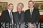GAA Social: Enjoying the ListowelEmmet's Club Social in the Arms Hotel on Friday night were Kevin Lynch, (chairman of Coiste na nOg), Canon Linnane, (patron) and Mikey Kennelly, (chairman)..