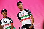 Fabio Aru (ITA) UAE Team Emirates on stage at the Team Presentation before the 101st edition of the Giro d'Italia 2018. Jerusalem, Israel. 3rd May 2018.<br /> Picture: LaPresse/Gian Mattia D'Alberto | Cyclefile<br /> <br /> <br /> All photos usage must carry mandatory copyright credit (&copy; Cyclefile | LaPresse/Gian Mattia D'Alberto)