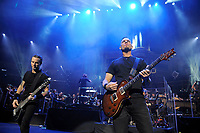 LONDON, ENGLAND - OCTOBER 3: Brian Marshall and Mark Tremonti of 'Alter Bridge' performing at the Royal Albert Hall on October 3, 2017 in London, England.<br /> CAP/MAR<br /> &copy;MAR/Capital Pictures