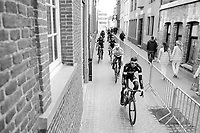 Team Bora-Hansgrohe on their way to sign-in<br /> <br /> 72nd Dwars Door Vlaanderen (1.UWT)<br /> 1day race: Roeselare &rsaquo; Waregem BEL (203.4km)