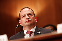 Timothy Tubbs, Deputy Special Agent in Charge- Laredo, Texas, Homeland Security Investigations, US Immigration and Customs Enforcement, US Department of Homeland Security testifies before the US Senate Committee on Homeland Security and Government Affairs on April 9, 2019, discussing migration at the United States Southern Border.<br /> Credit: Stefani Reynolds / CNP/AdMedia