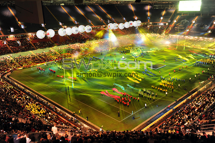 Picture by Simon Wilkinson/SWpix.com - 26/10/2013 - Rugby League - Rugby League World Cup - Australia v England - the Millennium Stadium, Cardiff, Wales - Opening Ceremony.
