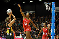 03.09.2017 England's Eboni Beckford-Chambers in action during the Quad Series netball match between England and South Africa at the ILT Stadium Southland in Invercargill. Mandatory Photo Credit ©Michael Bradley.
