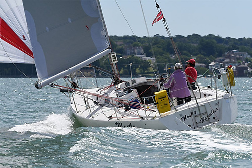 Tom Hayhoe and Natalie Jobling will be racing J/105 Mostly Harmless