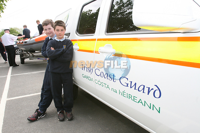 Robert Heneghan and Ciaran Faulkner when the Coastguard visited Fieldstown National School....Photo NEWSFILE/Jenny Matthews.(Photo credit should read Jenny Matthews/NEWSFILE)....This Picture has been sent you under the condtions enclosed by:.Newsfile Ltd..The Studio,.Millmount Abbey,.Drogheda,.Co Meath..Ireland..Tel: +353(0)41-9871240.Fax: +353(0)41-9871260.GSM: +353(0)86-2500958.email: pictures@newsfile.ie.www.newsfile.ie.FTP: 193.120.102.198.