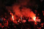 FUDBAL, BEOGRAD, 28. Nov. 2010. -  Navijaci Partizana. Utakmica 14. kola Jelen Superlige Srbije (2010/2011) izmedju Partizana i Metalca. Foto: Nenad Negovanovic