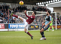 Brendan Moloney of Northampton Town clears during the Sky Bet League 2 match between Northampton Town and Wycombe Wanderers at Sixfields Stadium, Northampton, England on the 20th February 2016. Photo by Liam McAvoy.