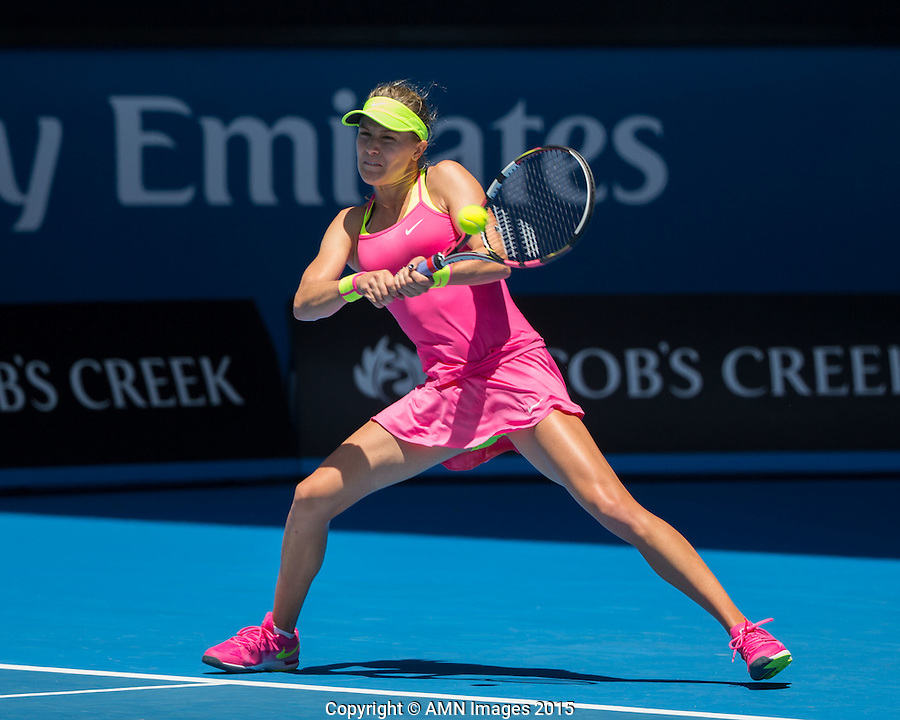 Eugenie Bouchard (CAN)<br /> <br /> Tennis - Australian Open 2015 - Grand Slam -  Melbourne Park - Melbourne - Victoria - Australia  - 23 January 2015. <br /> &copy; AMN IMAGES