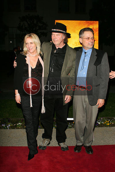 Pegi Young with Neil Young and Jonathan Demme<br />