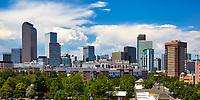 Denver, Colorado skyline in July 2017
