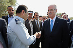 Palestinian Prime Minister, Rami Hamdallah, opens the street of Palestinian President Mahmoud Abbas, in the West Bank city of jenin, on July 17, 2017. Photo by Prime Minister Office